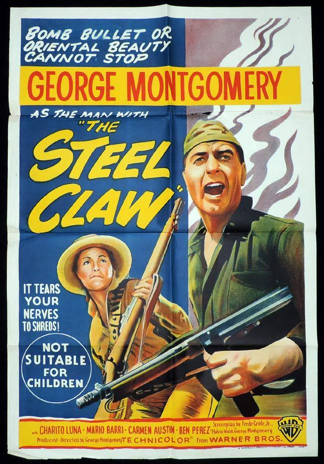 THE STEEL CLAW One Sheet Movie Poster George Montgomery