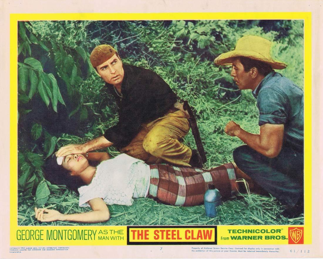 THE STEEL CLAW Lobby Card 7 George Montgomery Charito Luna Mario Barri