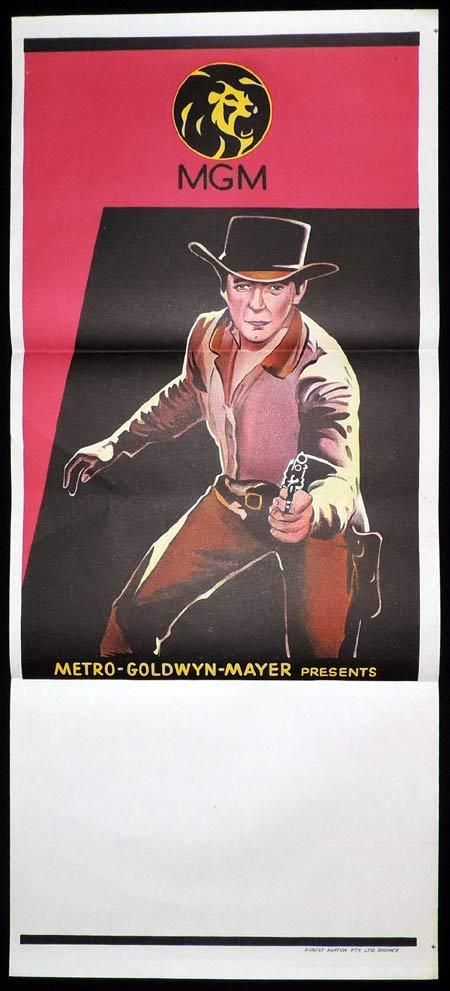 MGM Pictures STOCK Blank Western Colour Daybill Movie poster 1960s