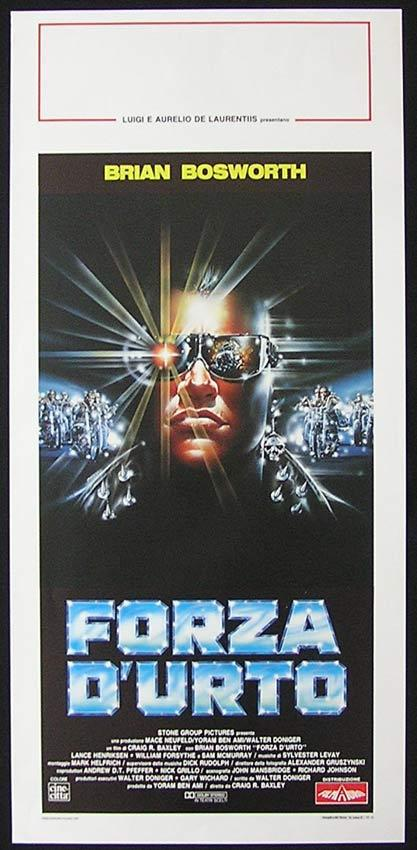 STONE COLD Italian Locandina Movie Poster Brian Bosworth