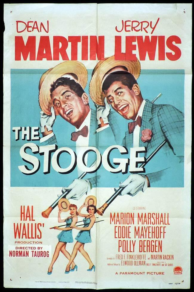 THE STOOGE Original One sheet Movie Poster DEAN MARTIN Jerry Lewis