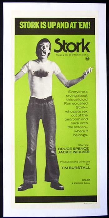 STORK 1971 Bruce Spence TIM BURSTALL LINEN BACKED Daybill Movie poster