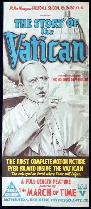 THE STORY OF THE VATICAN Daybill Movie poster Norman McMurray Artwork