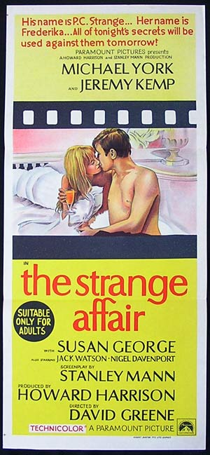 THE STRANGE AFFAIR '68-Michael York poster