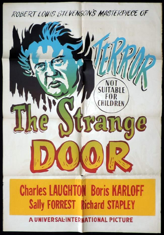 THE STRANGE DOOR One Sheet Movie Poster Boris Karloff