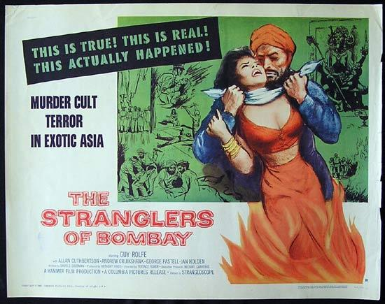 STRANGLERS OF BOMBAY Movie Poster 1960 Hammer Horror US half sht