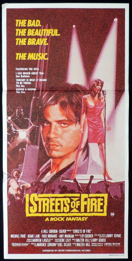 STREETS OF FIRE Original Daybill Movie Poster Michael Pare Walter Hill
