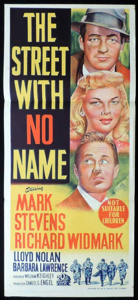 THE STREET WITH NO NAME Original Daybill Movie Poster Mark Stevens Film Noir