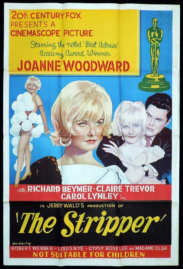 THE STRIPPER One Sheet Movie Poster Joanne Woodward