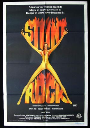 STUNT ROCK Movie Poster 1978 Grant Page RARE Original Australian One Sheet