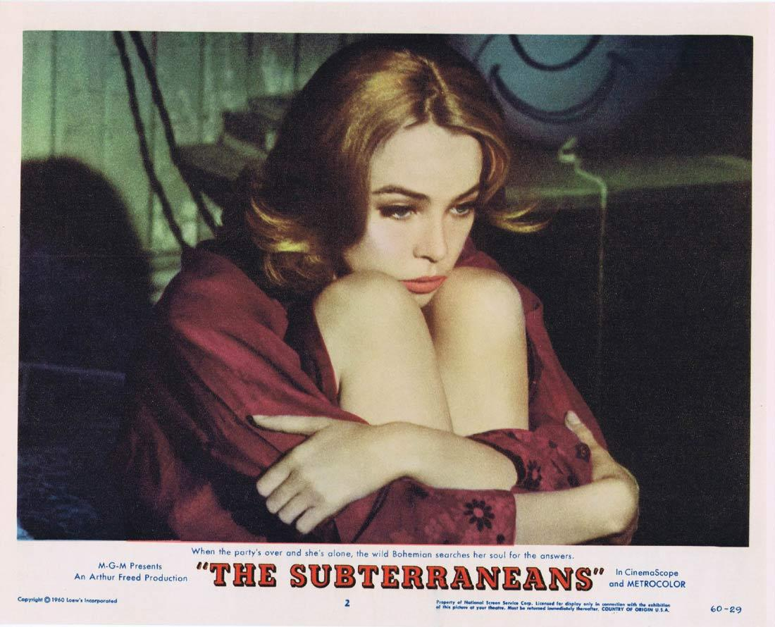 THE SUBTERRANEANS Lobby Card 2 Leslie Caron George Peppard Janice Rule