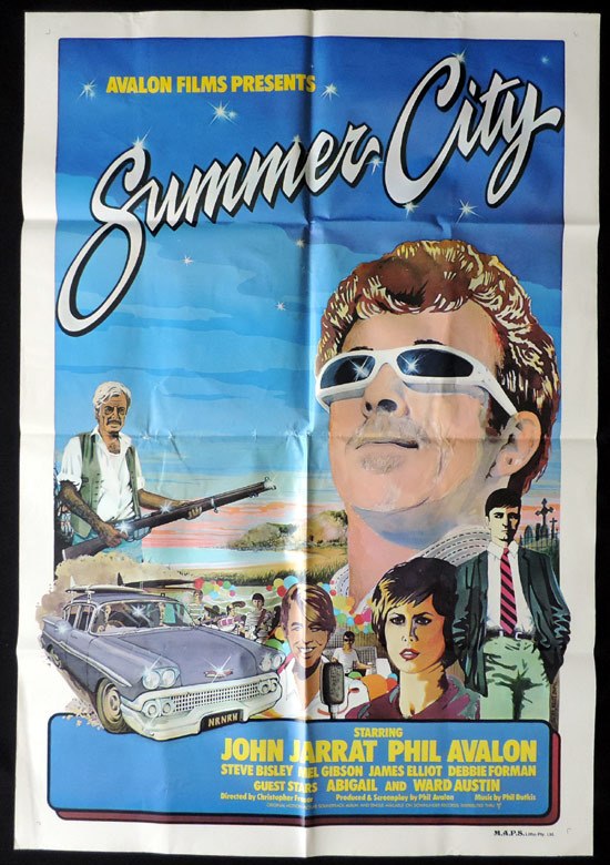 SUMMER CITY 1977 Mel Gibson Steve Bisley SURFING One sheet Movie poster