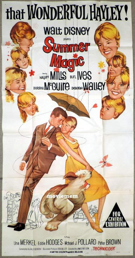 SUMMER MAGIC Original 3 Sheet Movie Poster Hayley Mills