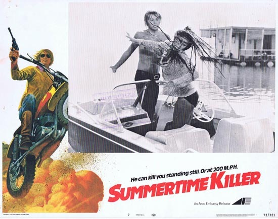 SUMMERTIME KILLER Lobby Card 7 Motorcycle Biker
