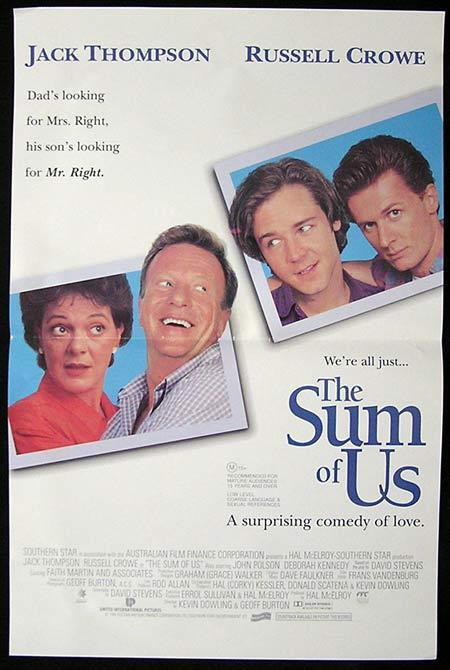 THE SUM OF US Daybill Movie Poster 1994 John Polson Jack Thompson