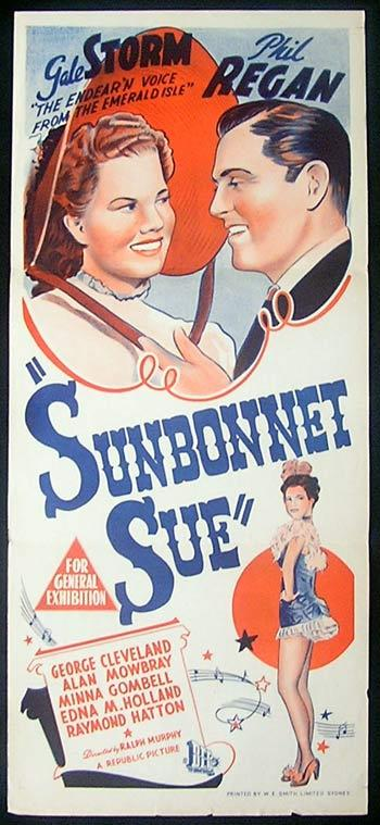 SUNBONNET SUE Movie Poster 1945 Gale Storm daybill