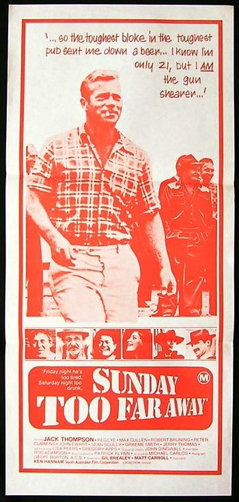 SUNDAY TOO FAR AWAY Daybill Movie Poster Jack Thompson