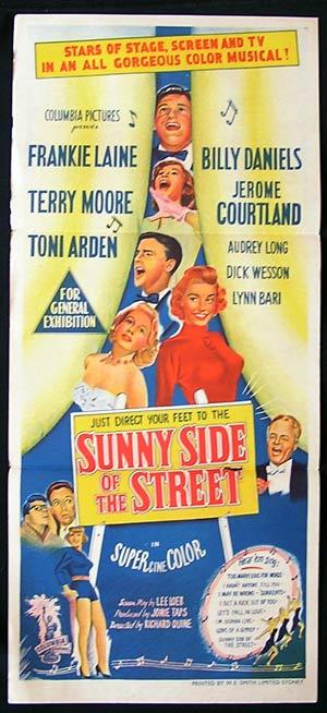 SUNNY SIDE OF THE STREET Movie poster 1951 Frankie Laine daybill