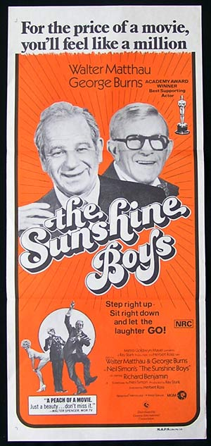 THE SUNSHINE BOYS '75-George Burns-Matthau poster