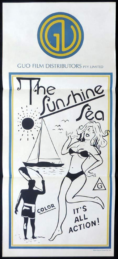 THE SUNSHINE SEA Stock GUO Blank Daybill Movie poster 1970s