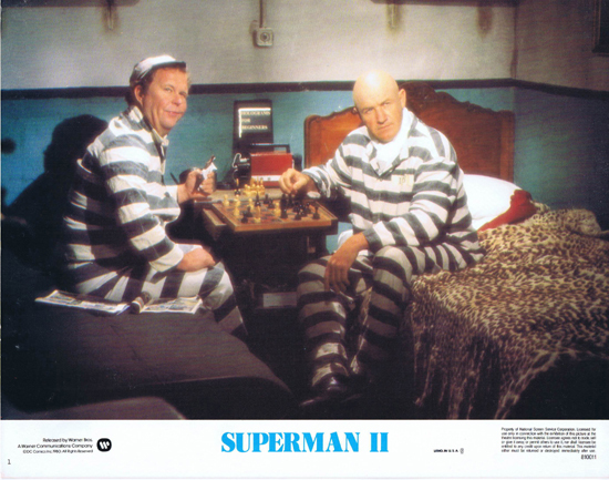 Lester Glenn Ford >> SUPERMAN II 1980 Christopher Reeve ORIGINAL US Lobby Card ...