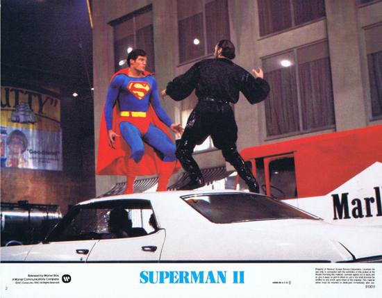 SUPERMAN II 1980 Christopher Reeve ORIGINAL US Lobby Card 2