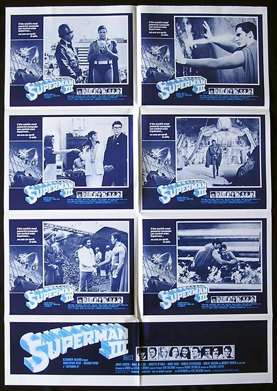 SUPERMAN III 1983 Photo Sheet Lobby Card Movie poster