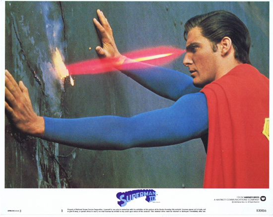 SUPERMAN III 1983 Christopher Reeve ORIGINAL US Lobby Card 1 Best Card!