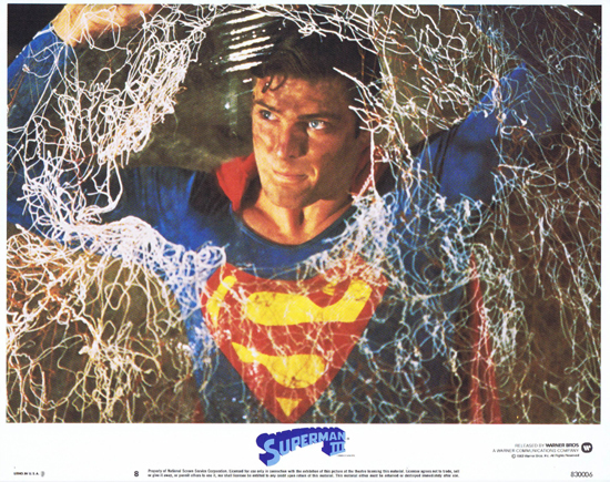 SUPERMAN III 1983 Christopher Reeve ORIGINAL US Lobby Card 8 Best Card!