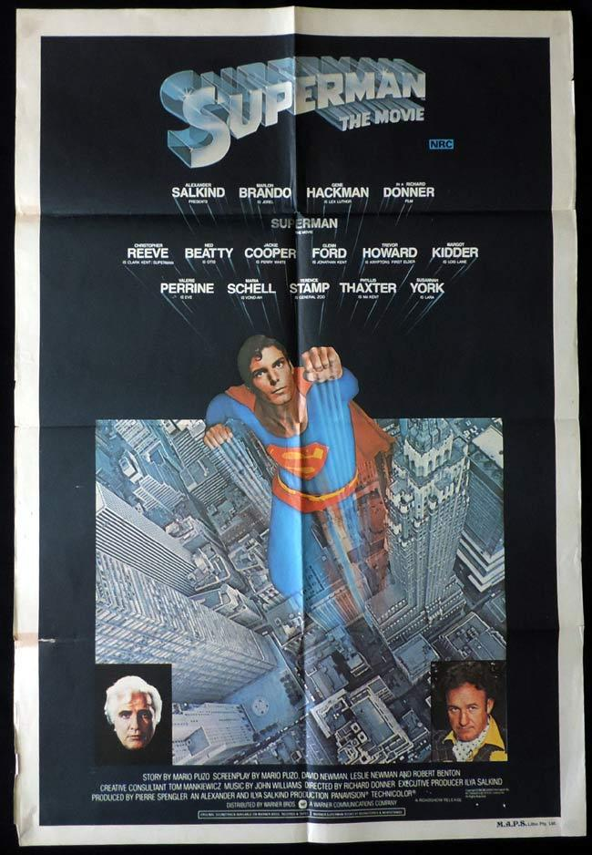 SUPERMAN THE MOVIE One Sheet Movie Poster Christopher Reeve