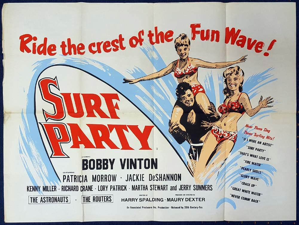 SURF PARTY Original British Quad poster Bobby Vinton