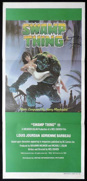 THE SWAMP THING Daybill Movie poster Louis Jourdan Wes Craven