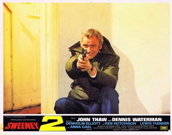 THE SWEENEY 2 1978 Lobby Card 3 John Thaw Dennis Waterman