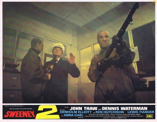 THE SWEENEY 2 1978 Lobby Card 7 John Thaw Dennis Waterman