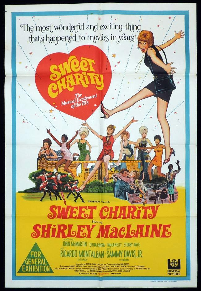 SWEET CHARITY One Sheet Movie Poster Shirley MacLaine