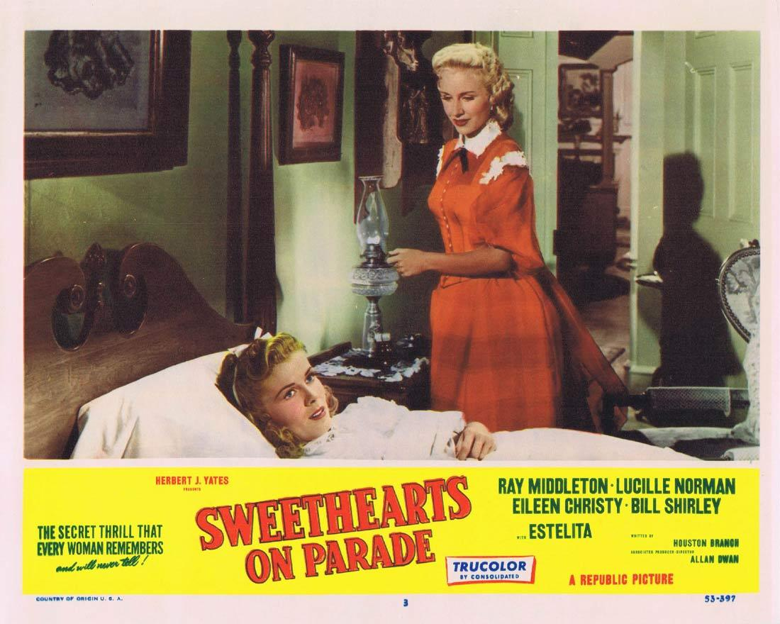 SWEETHEARTS ON PARADE Lobby Card 3 Ray Middleton Lucille Norman Eileen Christy