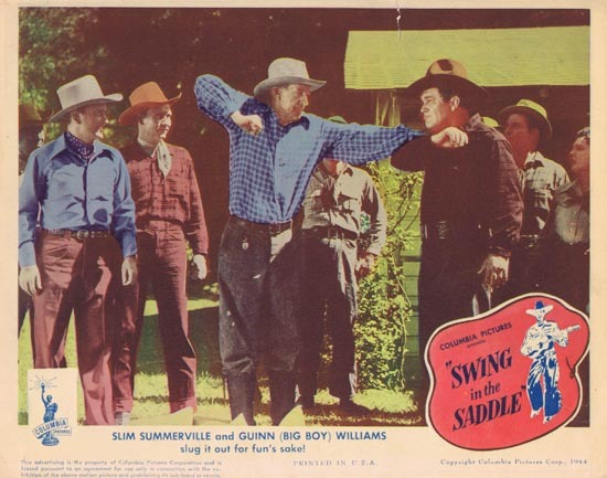 SWING IN THE SADDLE 1944 Lobby Card Slim Summerville Guinn (Big Boy) Williams