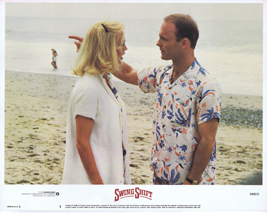 SWING SHIFT Goldie Hawn Kurt Russell Vintage Lobby Card 1