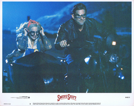 SWING SHIFT Goldie Hawn Kurt Russell Vintage Lobby Card 2