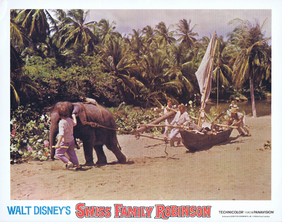 SWISS FAMILY ROBINSON Lobby Card 2 Disney Elephant
