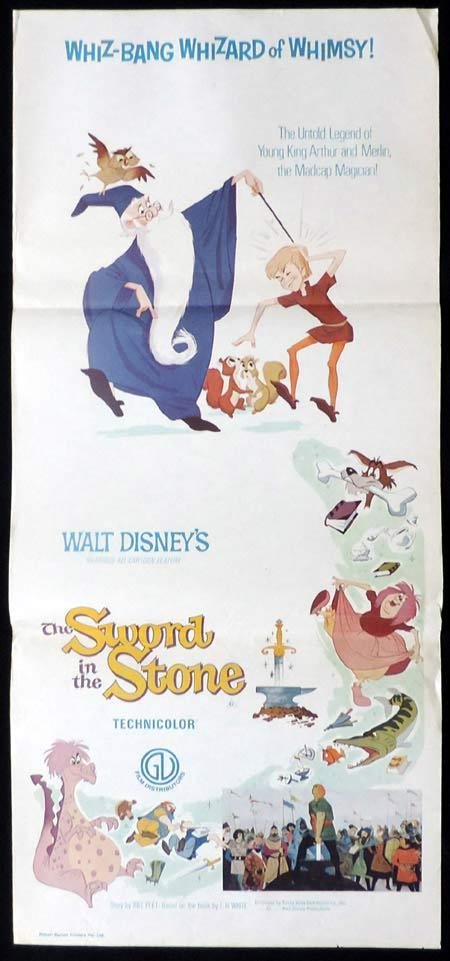 THE SWORD IN THE STONE Original Daybill Movie Poster 72r Disney