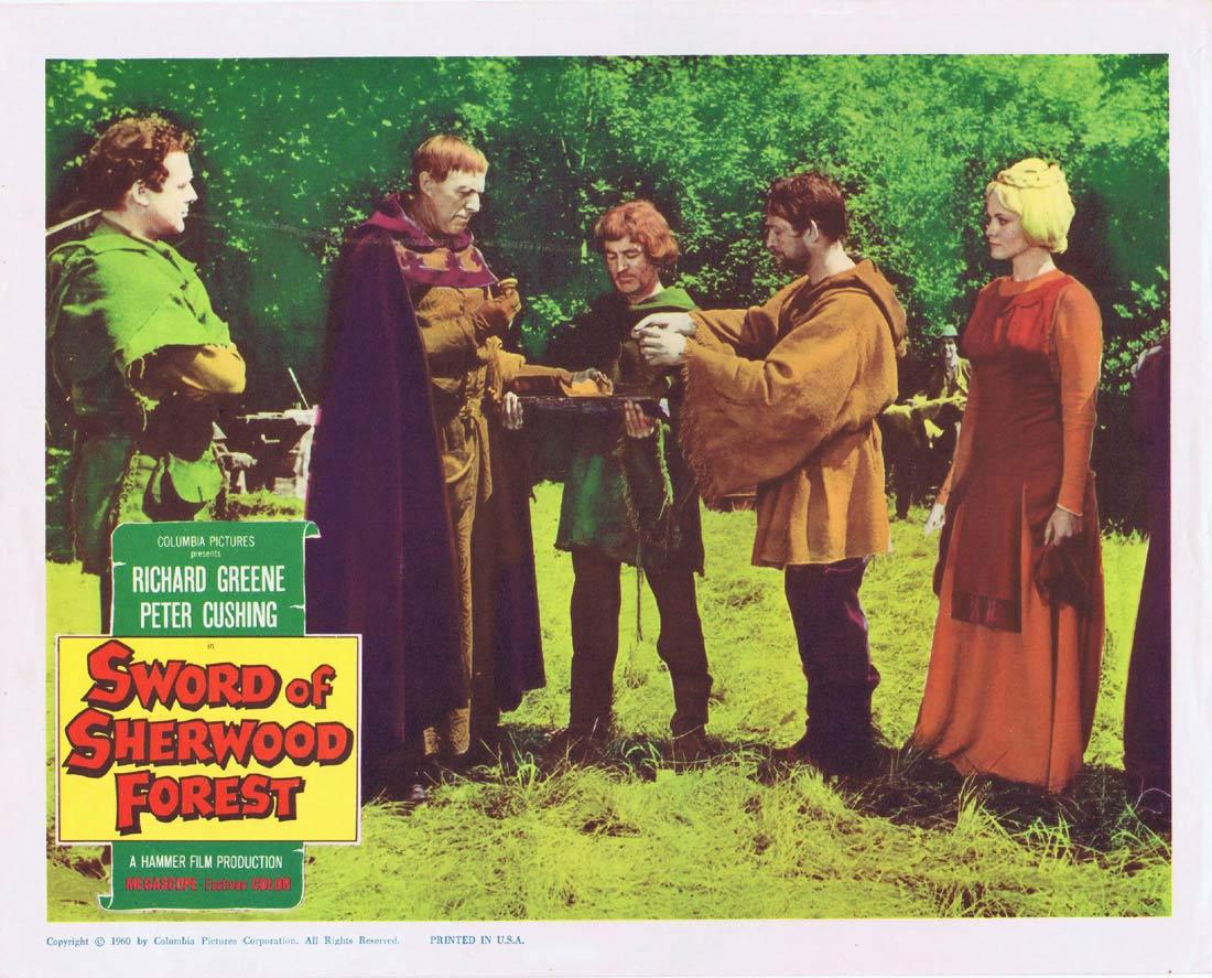SWORD OF SHERWOOD FOREST Lobby Card Richard Greene Robin Hood Hammer