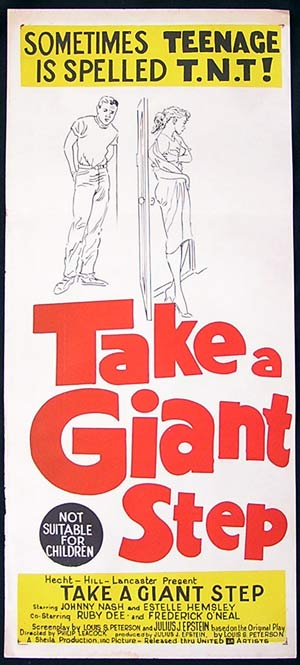 TAKE A GIANT STEP Daybill Movie poster 1959 Johnny Nash