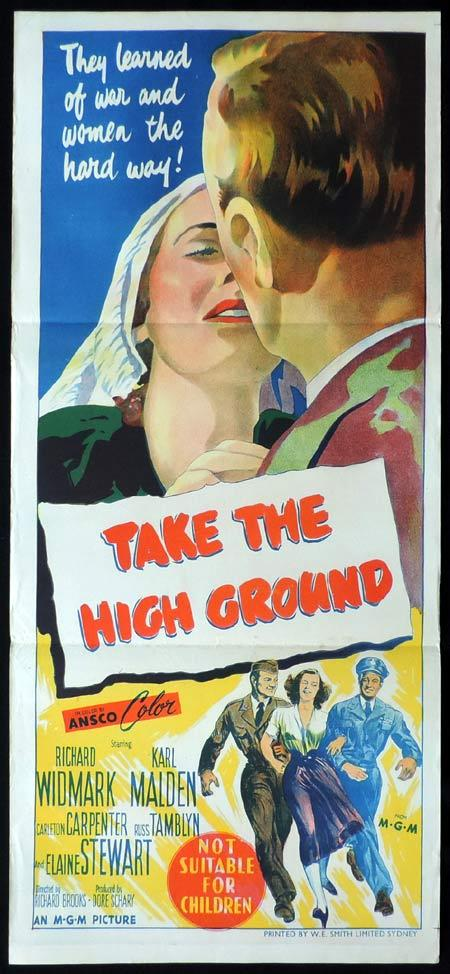 TAKE THE GROUND Original Daybill Movie Poster Richard Widmark