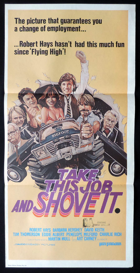TAKE THIS JOB AND SHOVE IT Original Daybill Movie Poster Rick Moranis Roger Rabbit