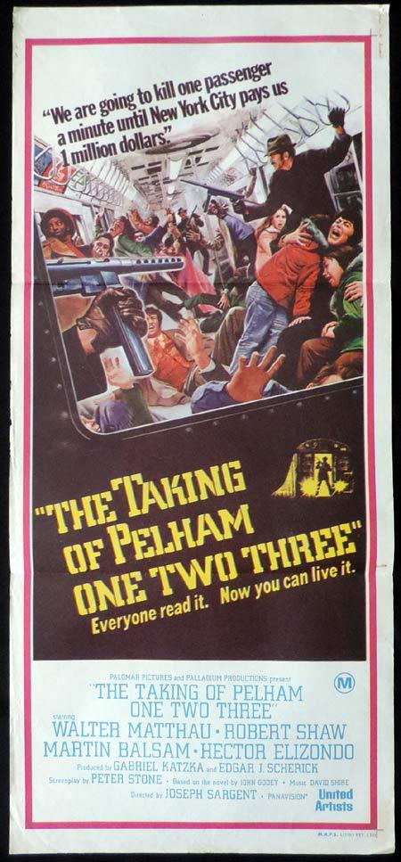 THE TAKING OF PELHAM ONE TWO THREE Original Daybill Movie Poster Walter Matthau