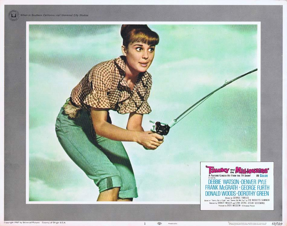 TAMMY AND THE MILLIONAIRE Lobby Card 1 Debbie Watson Frank McGrath Denver Pyle