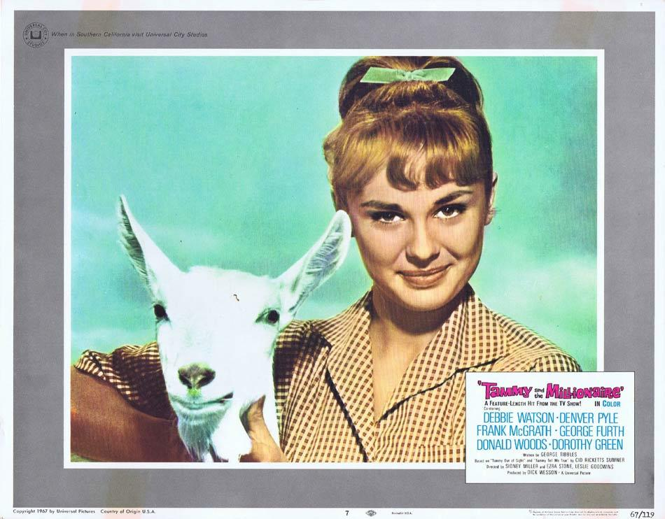 TAMMY AND THE MILLIONAIRE Lobby Card 7 Debbie Watson Frank McGrath Denver Pyle