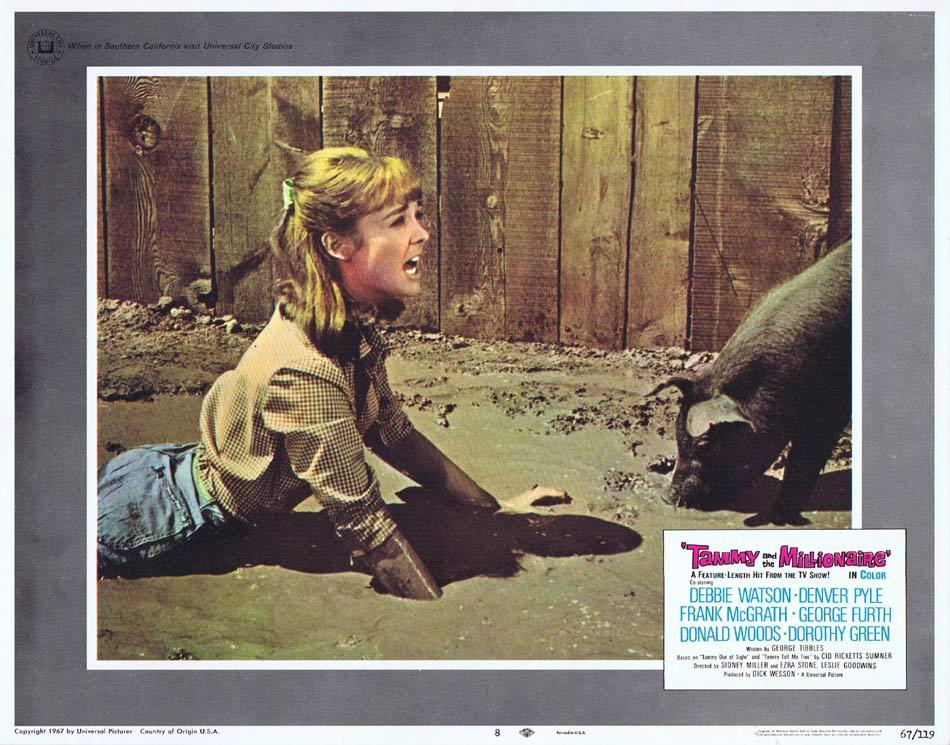 TAMMY AND THE MILLIONAIRE Lobby Card 8 Debbie Watson Frank McGrath Denver Pyle