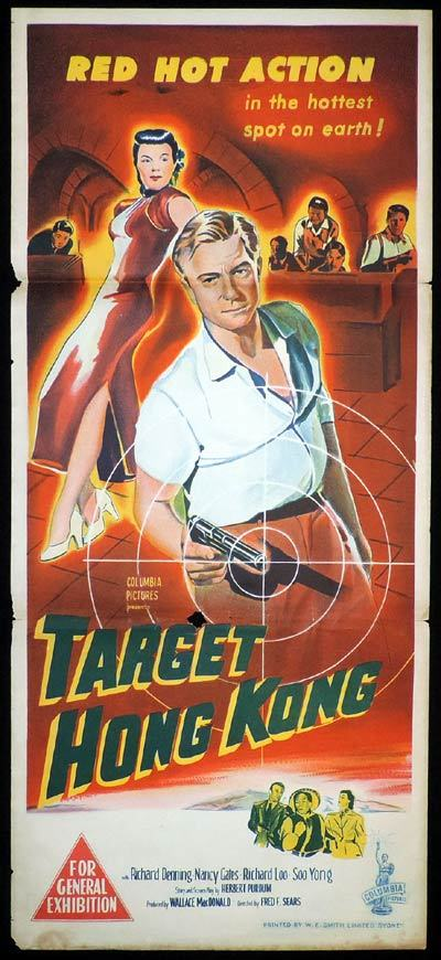 TARGET HONG KONG Daybill Movie Poster Richard Denning FILM NOIR